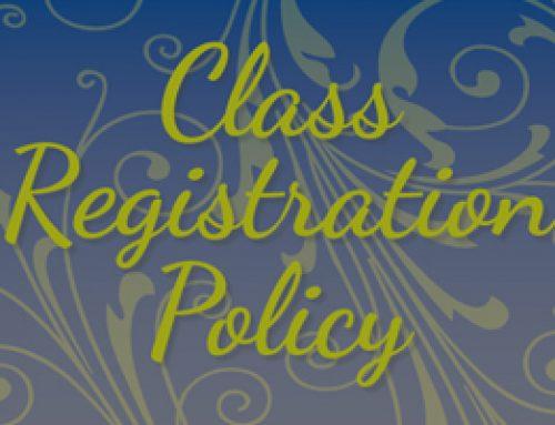 Class Registration Policies