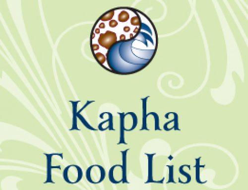 Kapha Food List
