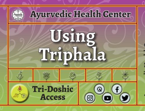 Using Triphala